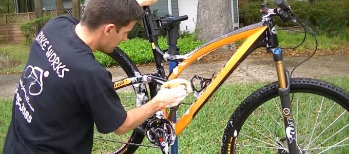 lavar bicicleta mtb