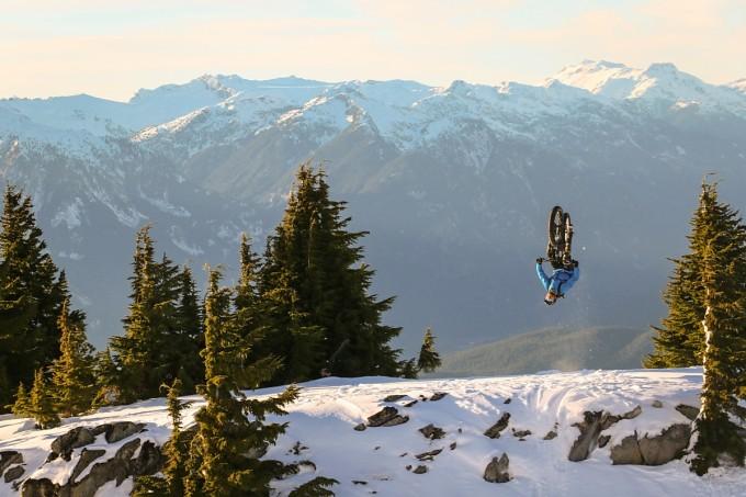 rocky mountain fat bike backflip