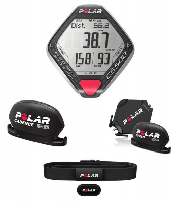 Polar CS500+ Cad (incluido H3 +Speed&Cadence W.I.N.D. + Support Dual Lock)