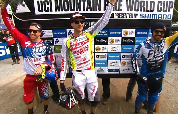 World Cup DH Podium Fort William 2015
