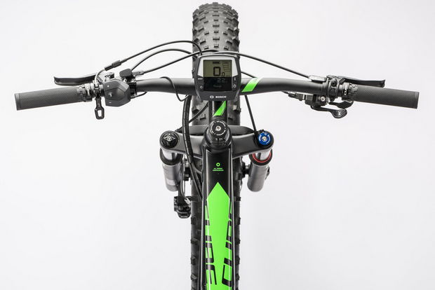 Cube Nutrail hybrid cockpit fatbike