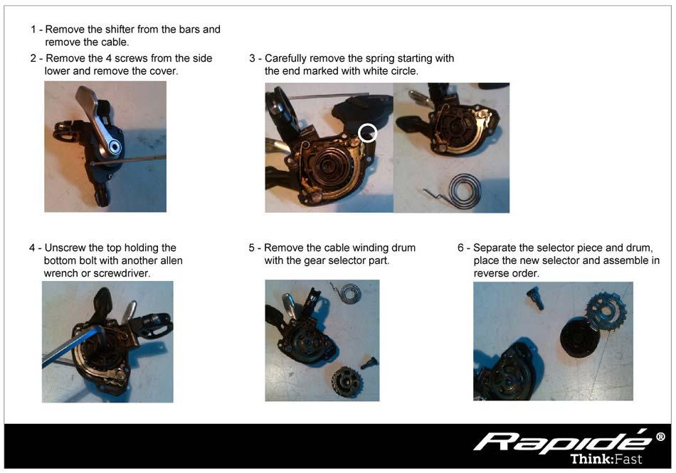 Guia kit rapide 10 velocidades a 11 velocidades