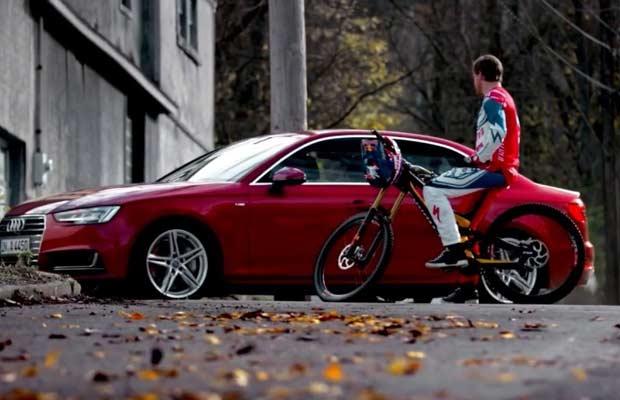 Aaron Gwin anuncio Audi