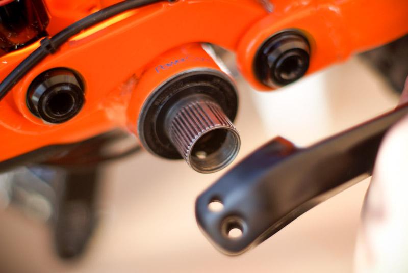 desmontar bielas Shimano XT M8000