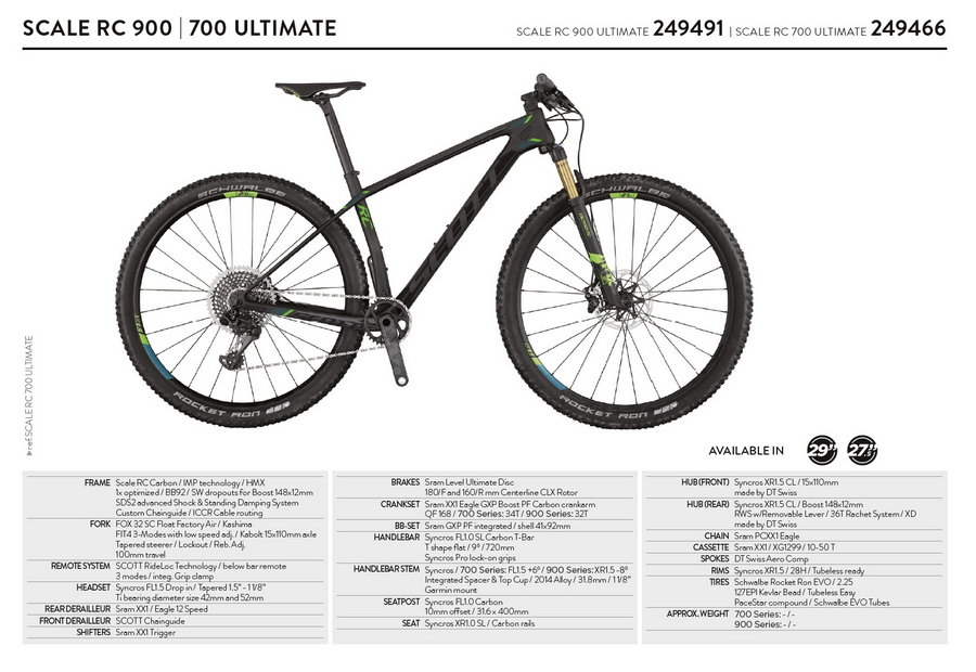 Scott Scale RC 900-700 Ultimate 2017
