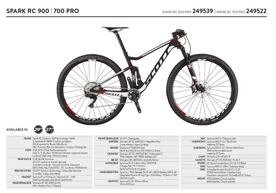 scott spark rc 900-700 Pro 2017