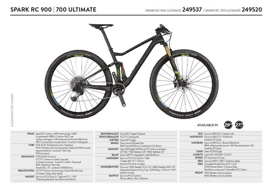 scott spark rc 900-700 Ultimate 2017