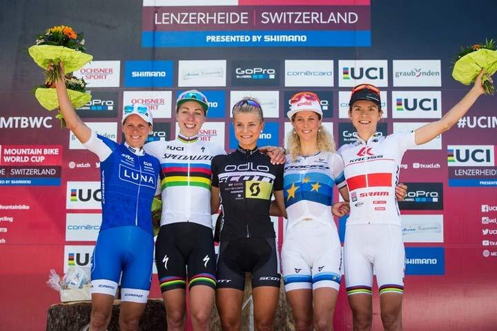 World Cup XC Lenzerheide 2016 podium women