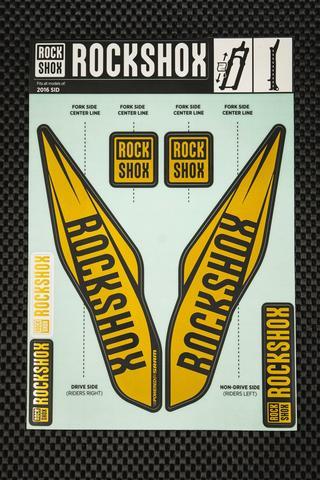 Rockshox SID Kit pegatinas 2017