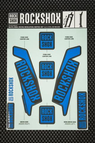 Rockshox Kit pegatinas 2017 azul