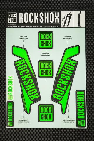 Rockshox Kit pegatinas 2017 verde