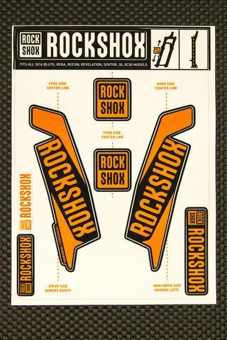 Rockshox Kit pegatinas 2017 naranja