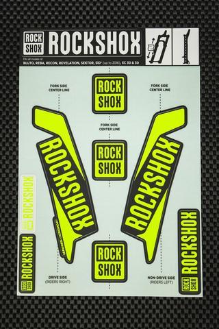 Rockshox Kit pegatinas 2017 azul amarillo