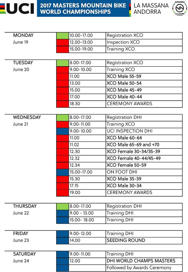 horarios la massana 2017