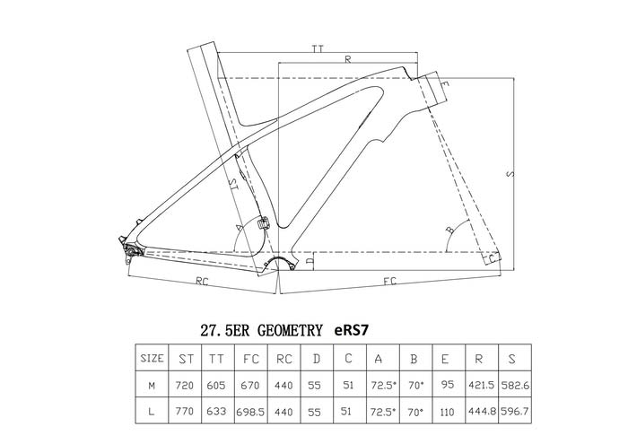 Five Bike eRS7 geometria