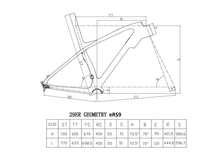 Five Bike eRS9 geometria