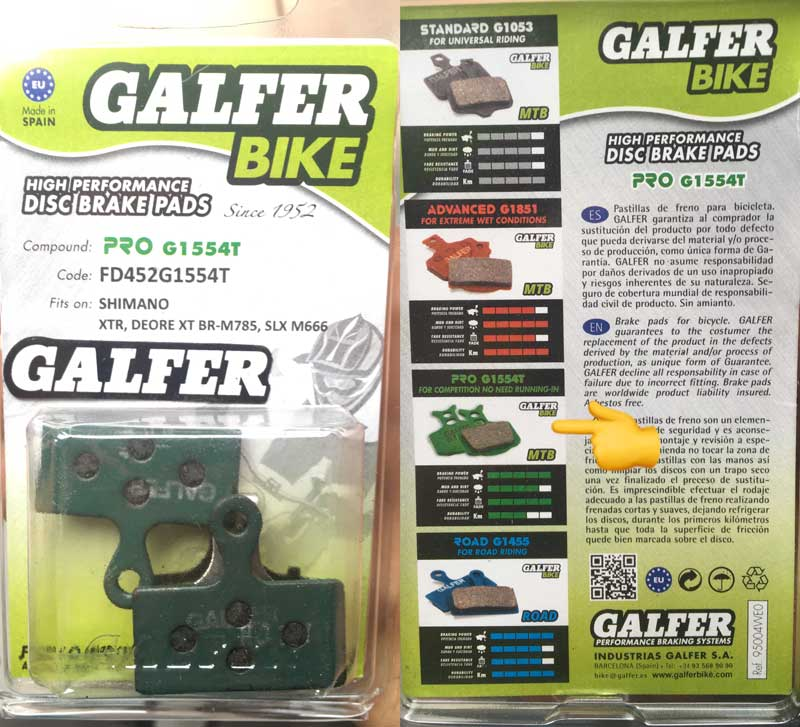 Pastillas Galfer bike