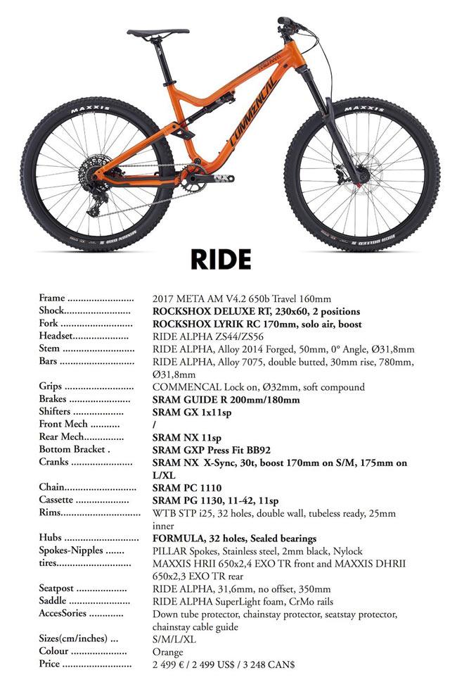 Commencal Meta AM V4.2 Ride 2017