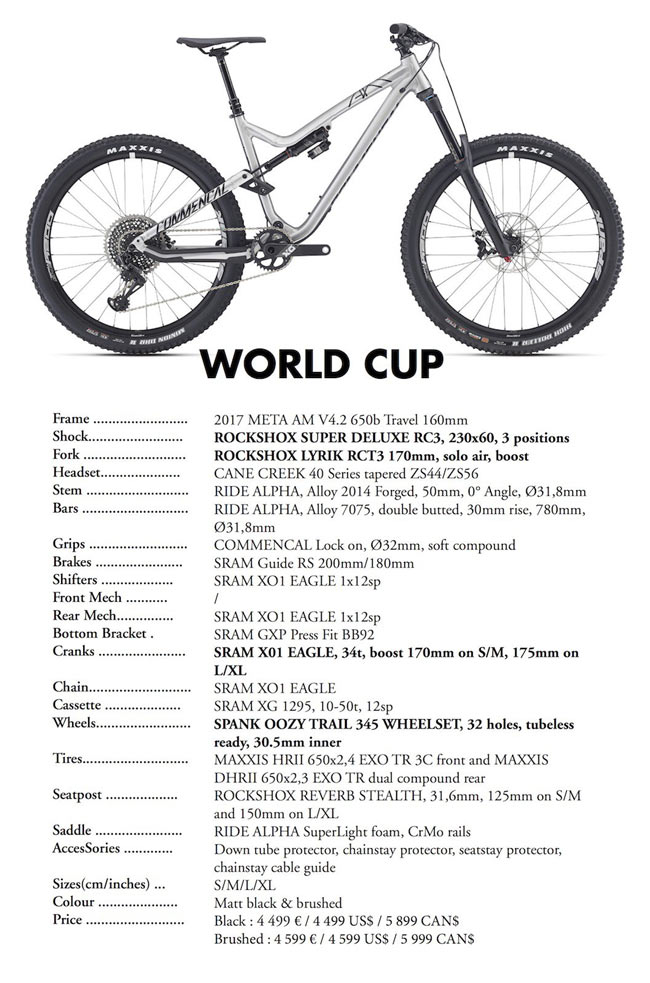 Commencal Meta AM V4.2 World Cup 2017