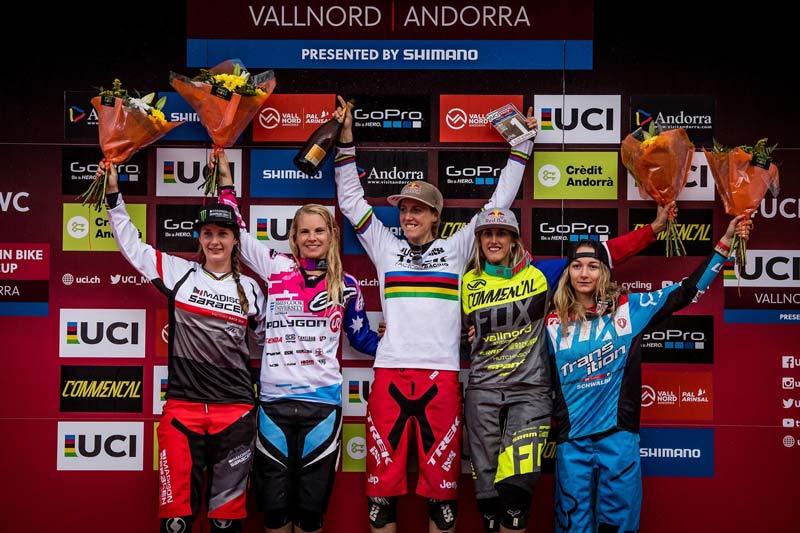 World Cup DH 2016 podio femenino